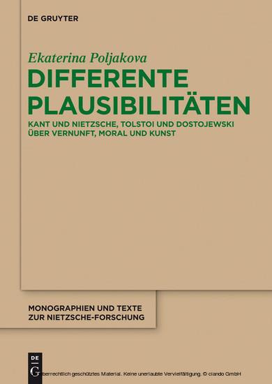 Differente Plausibilitäten - Blick ins Buch