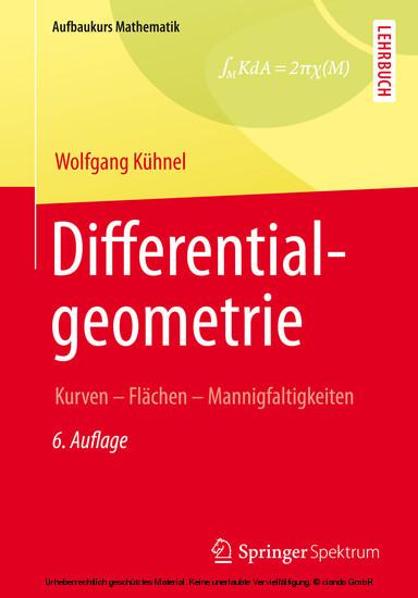 Differentialgeometrie - Blick ins Buch