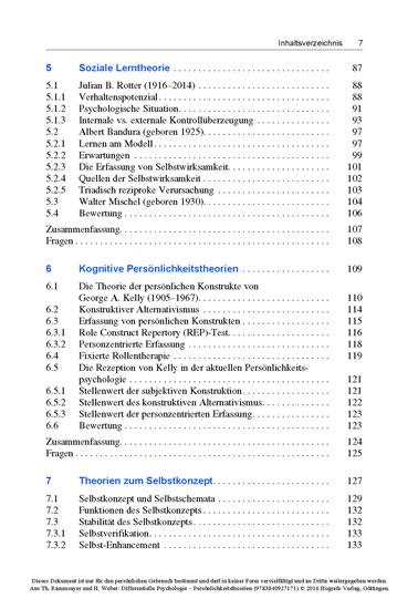Differentielle Psychologie – Persönlichkeitstheorien - Blick ins Buch