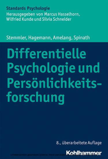 Differentielle Psychologie und Persönlichkeitsforschung - Blick ins Buch