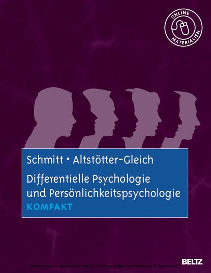 Differentielle Psychologie und Persönlichkeitspsychologie kompakt - Blick ins Buch