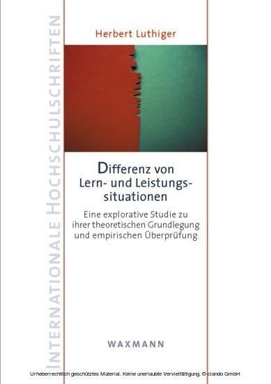 Differenz von Lern- und Leistungssituationen - Blick ins Buch