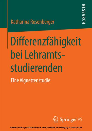 Differenzfähigkeit bei Lehramtsstudierenden - Blick ins Buch