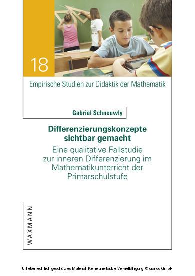Differenzierungskonzepte sichtbar gemacht - Blick ins Buch