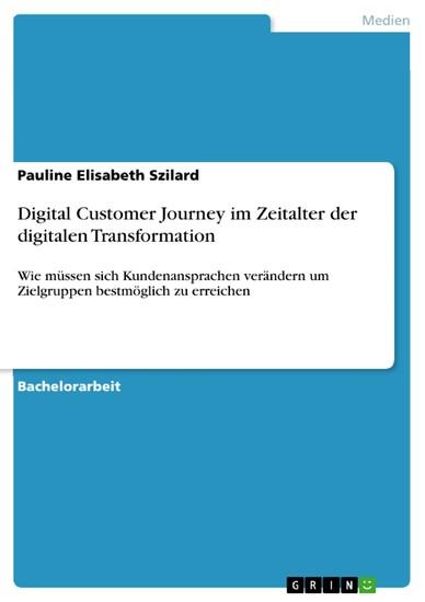 Digital Customer Journey im Zeitalter der digitalen Transformation - Blick ins Buch