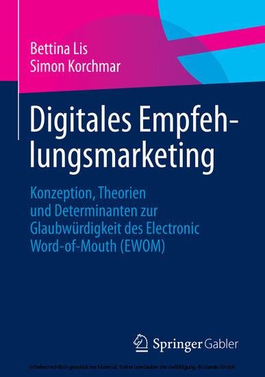 Digitales Empfehlungsmarketing - Blick ins Buch