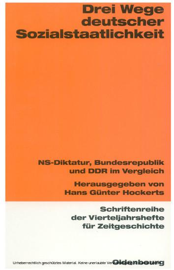 Drei Wege deutscher Sozialstaatlichkeit - Blick ins Buch