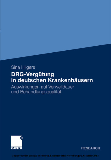 DRG-Vergütung in deutschen Krankenhäusern - Blick ins Buch