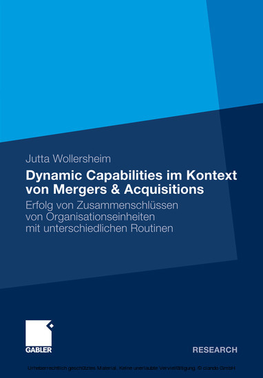 Dynamic Capabilities im Kontext von Mergers & Acquisitions - Blick ins Buch