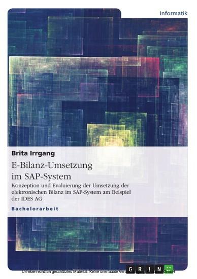 E-Bilanz-Umsetzung im SAP-System - Blick ins Buch
