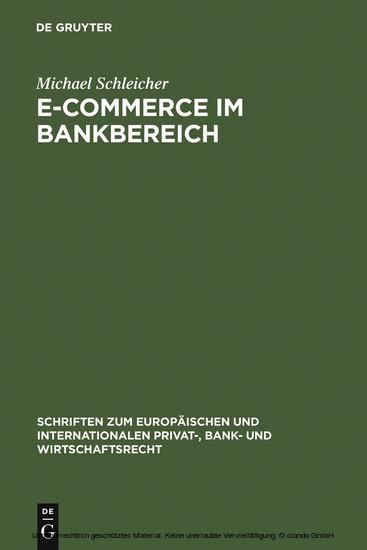 E-Commerce im Bankbereich - Blick ins Buch
