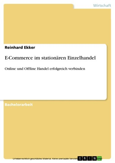 E-Commerce im stationären Einzelhandel - Blick ins Buch