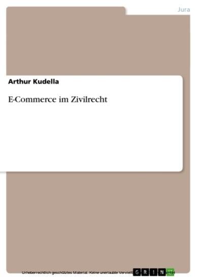 E-Commerce im Zivilrecht - Blick ins Buch