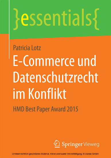 E-Commerce und Datenschutzrecht im Konflikt - Blick ins Buch