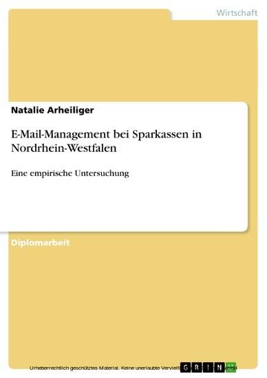 E-Mail-Management bei Sparkassen in Nordrhein-Westfalen - Blick ins Buch