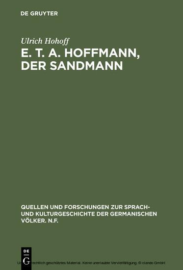 E. T. A. Hoffmann, Der Sandmann - Blick ins Buch