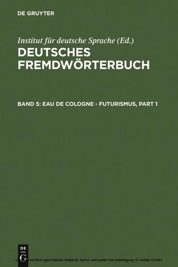 Eau de Cologne - Futurismus - Blick ins Buch