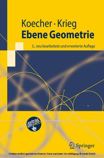 Ebene Geometrie - Blick ins Buch