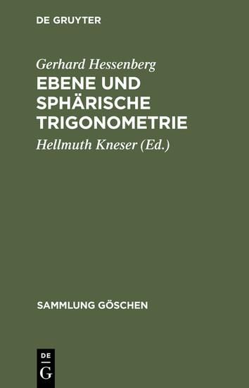 Ebene und sphärische Trigonometrie - Blick ins Buch