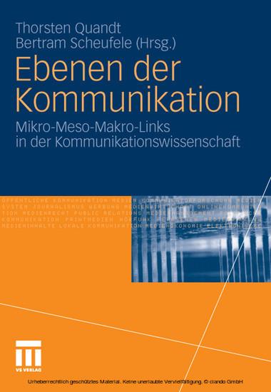 Ebenen der Kommunikation - Blick ins Buch