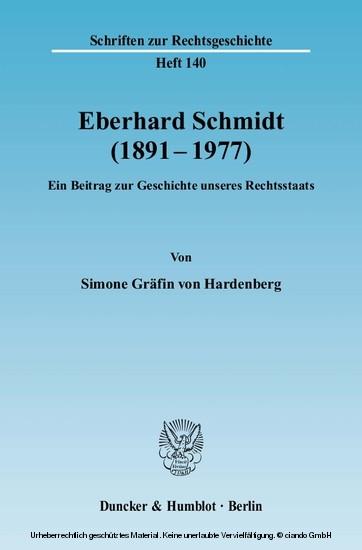 Eberhard Schmidt (1891-1977). - Blick ins Buch