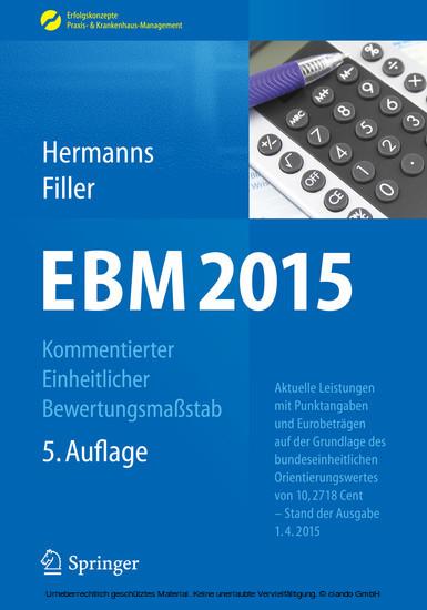 EBM 2015 - Kommentierter Einheitlicher Bewertungsmaßstab - Blick ins Buch