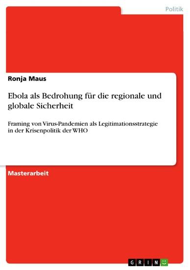 Ebola als Bedrohung für die regionale und globale Sicherheit - Blick ins Buch