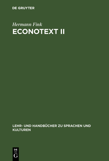 Econotext II - Blick ins Buch