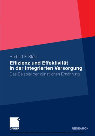 Effizienz und Effektivität in der Integrierten Versorgung - Blick ins Buch