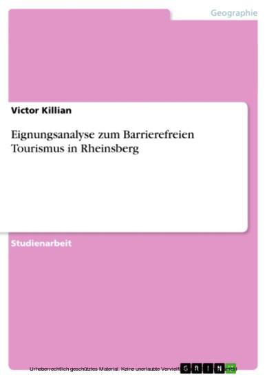 Eignungsanalyse zum Barrierefreien Tourismus in Rheinsberg - Blick ins Buch