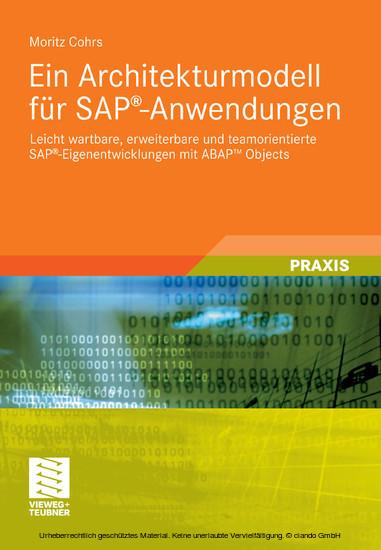Ein Architekturmodell für SAP®-Anwendungen - Blick ins Buch