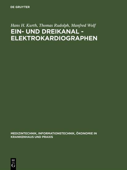 Ein- und Dreikanal - Elektrokardiographen - Blick ins Buch