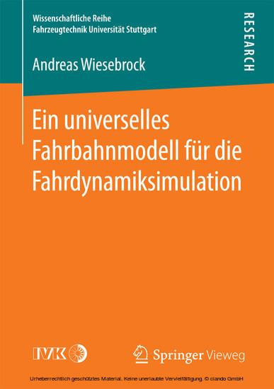 Ein universelles Fahrbahnmodell für die Fahrdynamiksimulation - Blick ins Buch