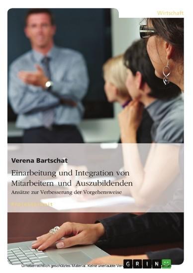 Einarbeitung und Integration von Mitarbeitern und Auszubildenden - Blick ins Buch
