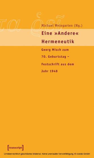 Eine »andere« Hermeneutik - Blick ins Buch