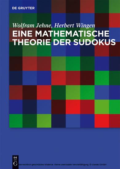 Eine mathematische Theorie der Sudokus - Blick ins Buch