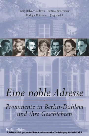 Eine noble Adresse - Blick ins Buch