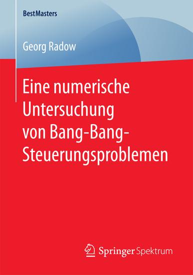 Eine numerische Untersuchung von Bang-Bang-Steuerungsproblemen - Blick ins Buch