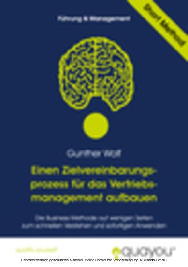 Einen Zielvereinbarungsprozess für das Vertriebsmanagement aufbauen - Blick ins Buch