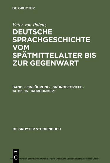 Einführung · Grundbegriffe · 14. bis 16. Jahrhundert - Blick ins Buch