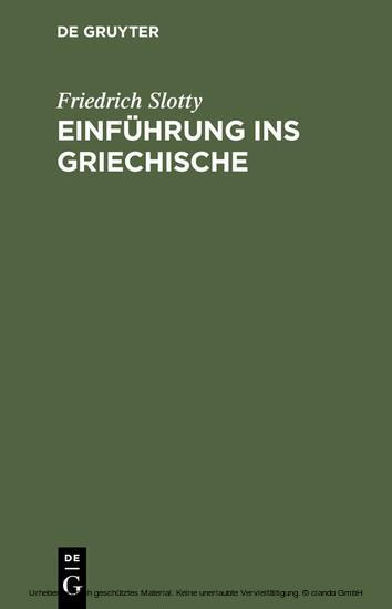 Einführung ins Griechische - Blick ins Buch