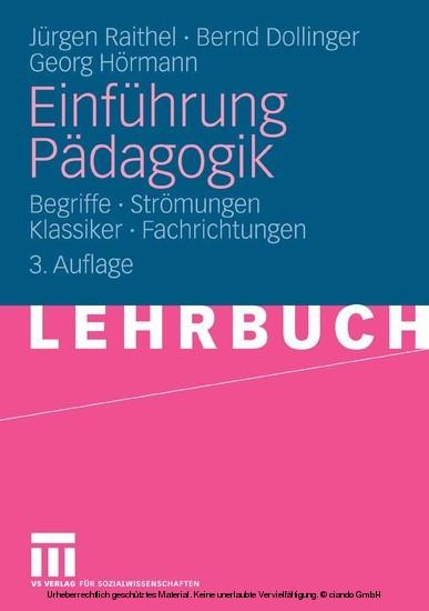 Einführung Pädagogik - Blick ins Buch