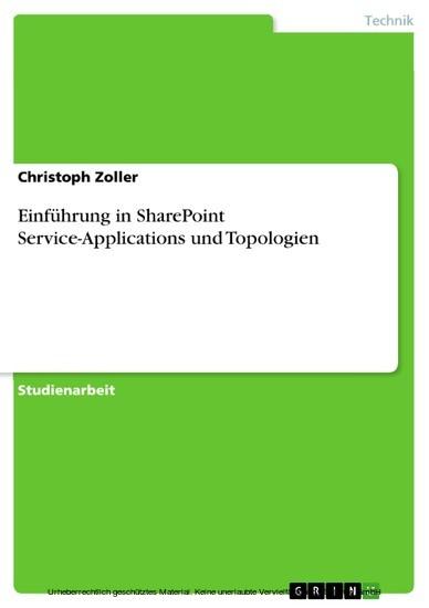 Einführung in SharePoint Service-Applications und Topologien - Blick ins Buch