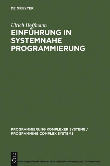 Einführung in systemnahe Programmierung - Blick ins Buch