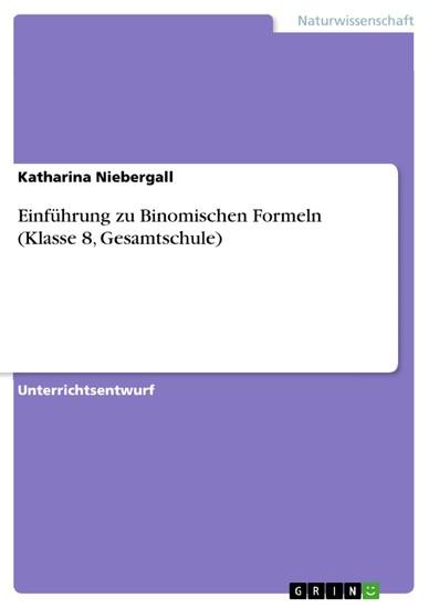 Einführung zu Binomischen Formeln (Klasse 8, Gesamtschule) - Blick ins Buch