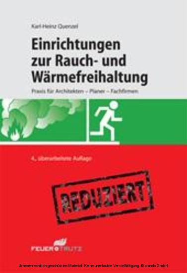 Einrichtungen zur Rauch- und Wärmefreihaltung (E-Book) - Blick ins Buch