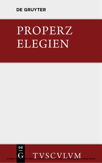 Elegien - Blick ins Buch