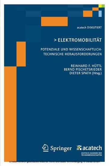 Elektomobilität - Potenziale und wissenschaftlich-technische Herausforderungen - Blick ins Buch