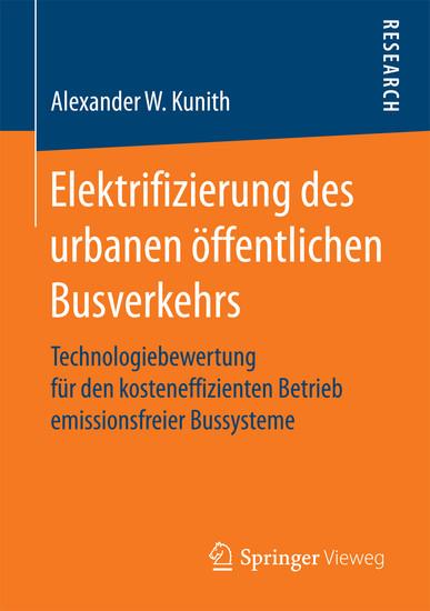 Elektrifizierung des urbanen öffentlichen Busverkehrs - Blick ins Buch