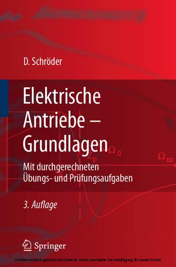 Elektrische Antriebe - Grundlagen - Blick ins Buch